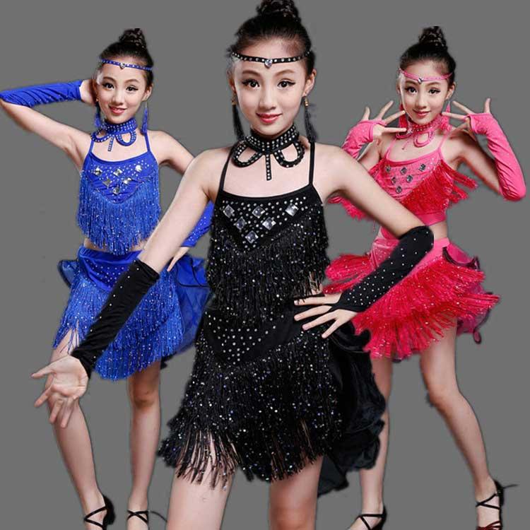Children s Latin dance performance clothing Girl s dance performances summer Vestidos<br><br>Aliexpress