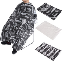 3 Patterns Hairdresser Apron Haircut Cape Waterproof Cloth Hair Cutting Cape Hairdressing Salon Styling Gown Barber Cape