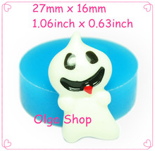 27mm JYL176 Funny Ghost Silicone Mold Cake Decorating Food Safe Gum Paste Soap Cabochon Nougat Wax Moulds