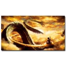 Гоку ездить shenron-Dragon Ball Z Новые Аниме Книги по искусству шелк Ткань плакат огромный печать 12x22 32x59 дюймов изображения стены дома номер декора ...(China)