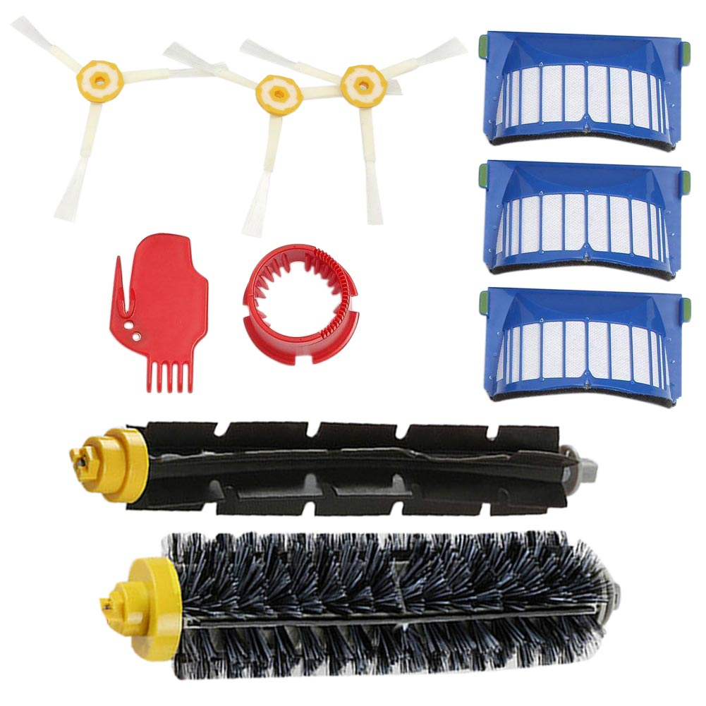 High Quality Beater Bristle Brush Filter 3 Armed Brush Vacuum Cleaner Replacement Set Kit Series for 600 610 620 650+Vac Filters<br><br>Aliexpress