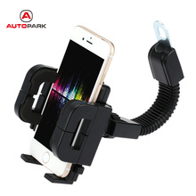 360 Degree Rotation Motorcycle Phone Holder Shock Resistant Motorbike Scooter Stand Mount Bracket for Mobile Phone GPS PDA(China)