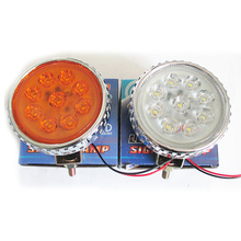 2pcs/lot 8-30V Yellow White 9 LED Head Front Round Fog Light for Truck Car DRL Off-road Lamps Parking Lamp