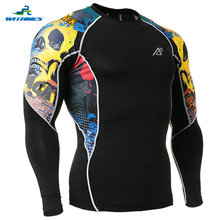 C2L-B46 Brand Long Rugby Shirts Men's Sportswear Baseball Compression Base Layers Tops Skin Ball Sports Jerseys Tight Tennis Tee