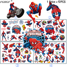 Buy FGHGF 4PCS Cartoon spider hero Child Temporary Body Art Flash Tattoo Sticker 17*10cm Waterproof painless tattoo for $2.49 in AliExpress store
