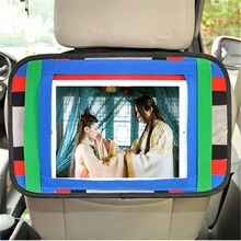 Universal Tablet Car Holder Storage Bag Auto Back Seat Cell Phone Tablet Stand Organizer Pouch for Mobile Phone iPad Tablet