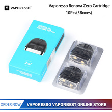Originele 10 pcs Vaporesso Renova Nul Pod Cartridge Vaper 2 ml E Sigaretten Verstuiver With1.0ohm Vape Tank Coil Core vape cartridge(China)