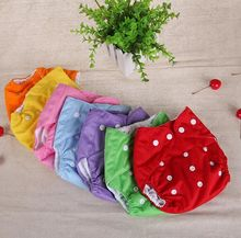 Baby Diapers Washable Reusable Nappies Grid/Cotton Training Pant Cloth Diaper Baby Fraldas Winter Summer Version Diapers #54(China)