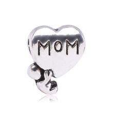 High Quality MOM Girl Clover Charms Beads fit Pandora Necklace Bracelet for Man Jewelry DIY Chain with Cool Skull Beads