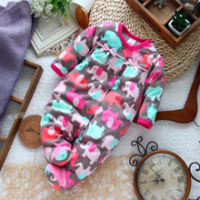 Newborn Clothes baby romper long-sleeve micro-polar fleece jumpsuit newborn baby girl costume for spring autumn