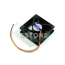 3 Pin 80 x 80 x 25 mm Connector Cooler Cooling Heatsink Exhaust Fan for Computer Box CPU Motherboard Cooler Radiator