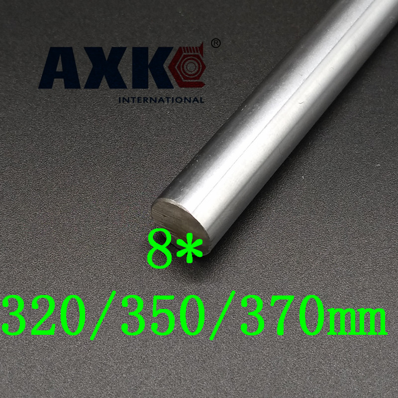 AXK  OD8mm Smooth Rods 320/350/370mm Chrome Precision Hardened Rod Linear Shaft Rail Bar<br>