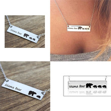 1Pcs Cute Mama Baby bear necklace Family Love baby shower Gifts Jewelry mother's day gift Wholesale 3 Styles