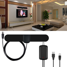 2018 Professional Flat HD Amplified Indoor Digital TV Antenna HDTV Antenna Amplifier 50 Miles Range for tv home(China)