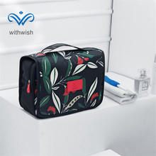 Travel Organizer Cosmetic Bag Foldable Toiletry Kits For Women's Makeup Waterproof Compact Hanging Personal Care Hygiene Purse