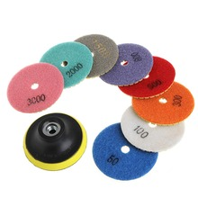 "9Pcs 3""/4"" Diamond Polishing Pads Granite Marble Concrete Stone Grinding Discs -Y103(China)"