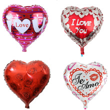 TSZWJ Free shipping new aluminum balloons valentine wedding parties decoration love balloon high quality(China)