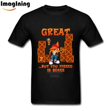 PS4 Game Tshirt Crash Bandicoot Fashionable T Shirts Plus Size Male Screen Printed Homme Tees Tops XS-3XL For Teenagers(China)
