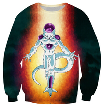 Harajuku cartoon 3d sweatshirt jumper Japanese anime Dragon Ball Z: Resurrection 'F' Frieza sweatshirt hoodies pullovers