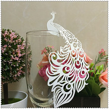 50pcs Laser Cut Paper Place Card Escort Card Cup Card Wine Glass Card Wedding Decoration Wedding Favors and gifts,wedding favors