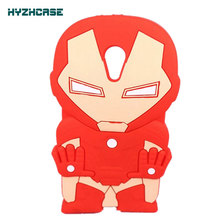 For Motorola Moto G2 G 2 XT1063 XT1068 XT1069 Phone Case New Style 3D Cartoon Red Iron Man Soft Silicone Protective Back Cover