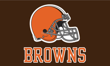 Cleveland Browns wordmack logo brown Flag 3x5FT NFL banner150X90CM 100D Polyester brass grommets custom flag, Free Shipping(China)