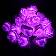 2 meter 20 x LED Novelty Rose Flower Fairy String Fashion Holiday Lighting Wedding Garden Party Christmas indoor Decoration