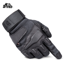 Velcro Sealed PU Leather Hard Knuckle Protection Men's Breathable Black Winter Full Finger Military Tactical Gloves for Men(China)