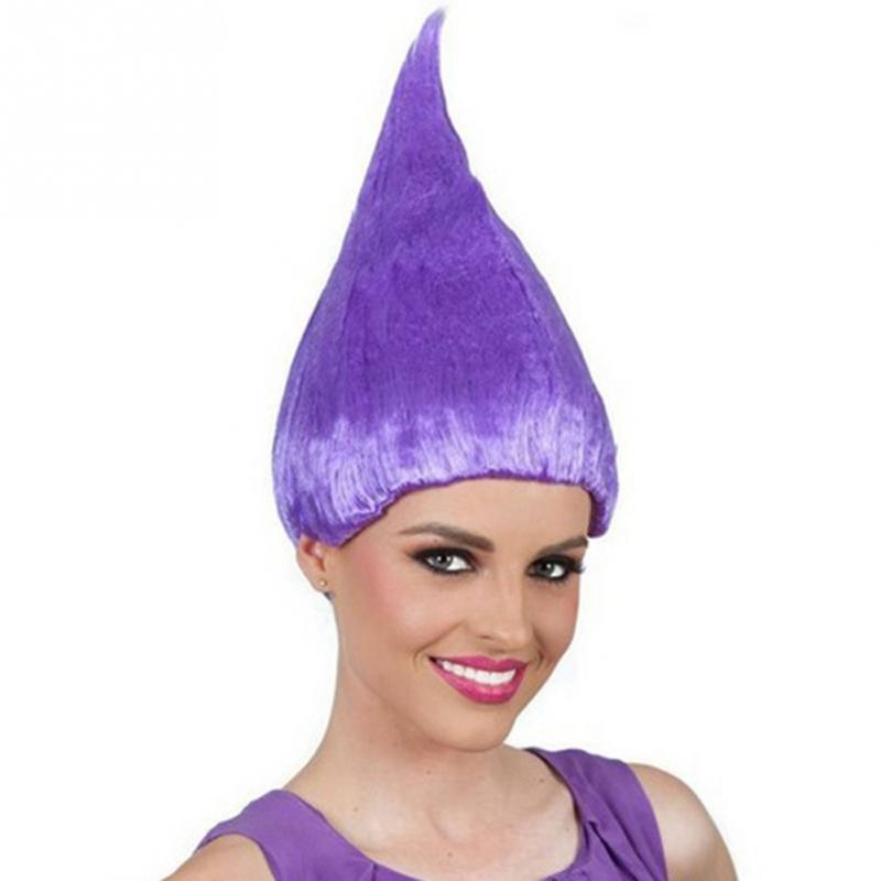 Movie Trolls Poppy Elf//Pixie Wigs Cospaly Halloween Party Props Adults Hairpiece