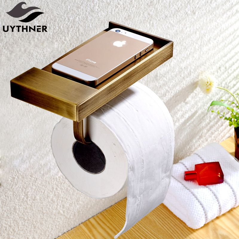 Uythner Newly Euro Style Antique Brass Bathroom Toilet Paper Holder Wall Mounted<br>