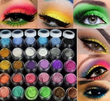 New Quality 30 Colors Eye Shadow Powder  pigment Colorful Makeup Mineral Eyeshadow + brush Pigment beauty & health  cosmetic