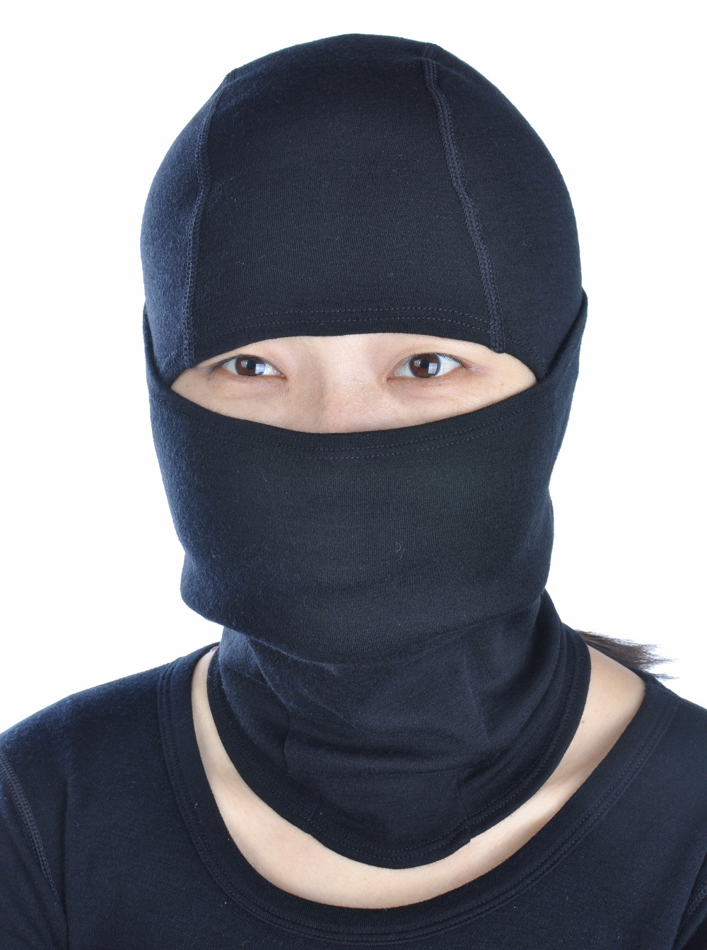 Unisex Men Women 100% Merino Wool Skiing Wind River Balaclava Beanies Hat Head Ears Mouth Thermal Warm Black Firstlite StyleОдежда и ак�е��уары<br><br><br>Aliexpress