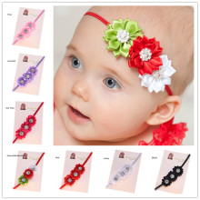 28pcs Shabby Chiffon Flower headband  Photo Prop Rhinestone Flowers headband Newborn  Hair bows headband Fancy Headband