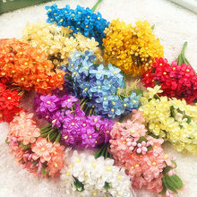 All over the sky star simulation artificial silk corsage flowers/wedding decoration for DIY collage gift box 12PCS (12 cm/beam)(China)