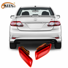 For 2011-2012 Toyota Corolla Lexus CT Parking Warning Brake Tail Lamp Red Lens Rear Bumper Reflector Light  LED Red Bulb 2pcs