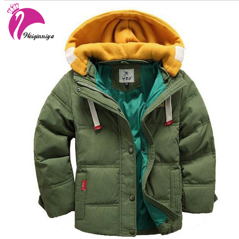 New Brand 2017 Boys Winter Jacket Coat Fashion Solid Removable Patchwork Hooded Kids Clothes Casual Children Clothing Outwears Îäåæäà è àêñåññóàðû<br><br>