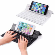 LESHP Portable Wireless Bluetooth Folding Keyboard Mobile Phones Tablet Keyboard For Ipad For IOS For Android Black/White