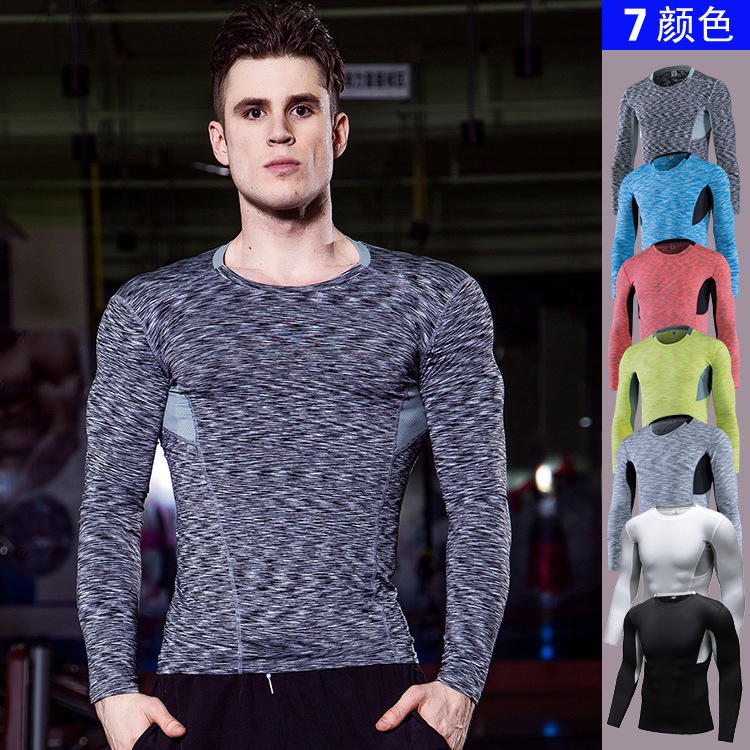 Mens Compression Shirts Bodybuilding Tight Long Sleeves Jerseys Gyms Clothing Crossfit Tops Workout Fitness Sportswear t shirt