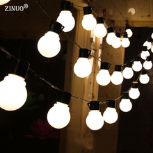 ZINUO  5M 20pcs 5CM Big Ball Led String Light Black Wire Outdoor Christmas Garland Fairy String Garden Starry Lights 110V 220V