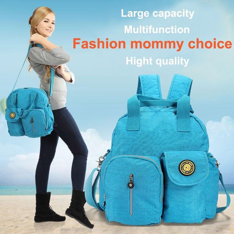 Fashion backpack Baby diaper bags Infant/toddler nappy bag mommy multifunctional maternity bag lady handbag shoulder bag Light<br>