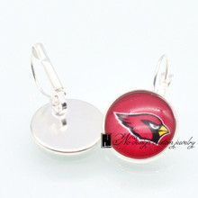 Arizona Cardinals Sports 20mm 12mm Glass Cabochon Earings French Leverback Earrings for Women Football Fans