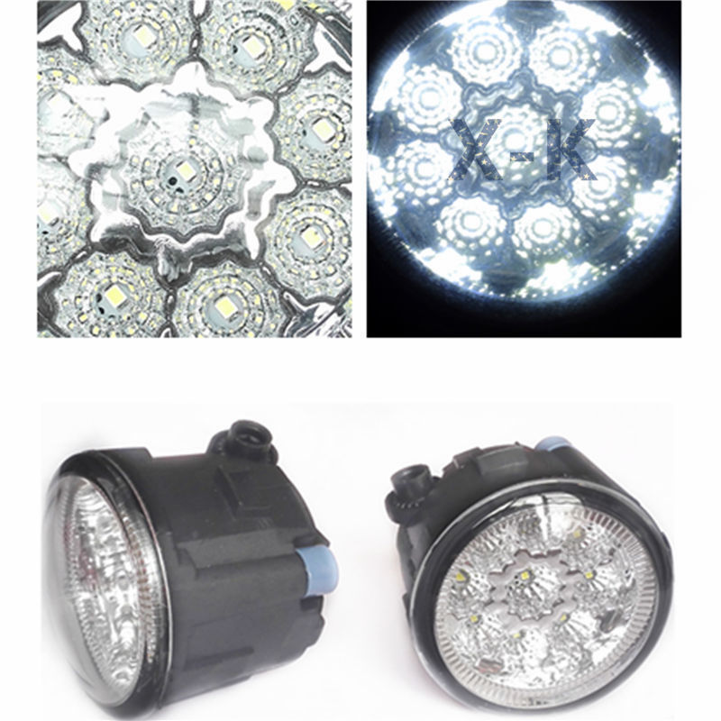 For NISSAN Versa  2007-2012  Car-Styling Led Light-Emitting Diodes DRL Fog Lamps<br><br>Aliexpress