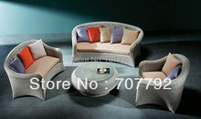 all weather fancy synthetic rattan furniture sofa set