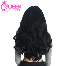 Queen Like Hair Products 1 Piece 100% Human Hair Bundles 8-28 Inch Non Remy Hair Weave Natural Color Malaysian Body Wave Bundles(China)