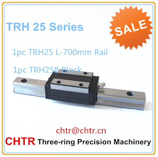 Cross Slide Linear Actuator  (1pc TRH25 L=700mm Linear Guide Rail with1 pc TRH25B Linear Carriage )<br>
