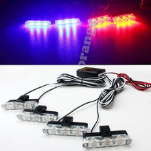 4x3LED Ambulance Police light Car Truck Emergency Light Flashing Firemen Lights DC 12V  Vehicle Strobe Warning light