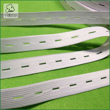 Promotion DIY accessories adjustable white button hole elastic webbing 2cm width 10 yards/lot(China)