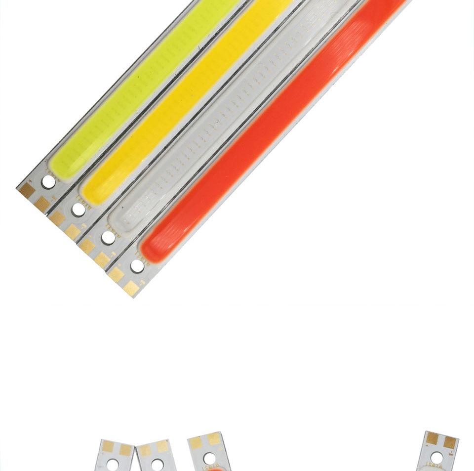 120mm 12v 10w 1000LM cob led light strip chip bulb lamp red blue white (6)