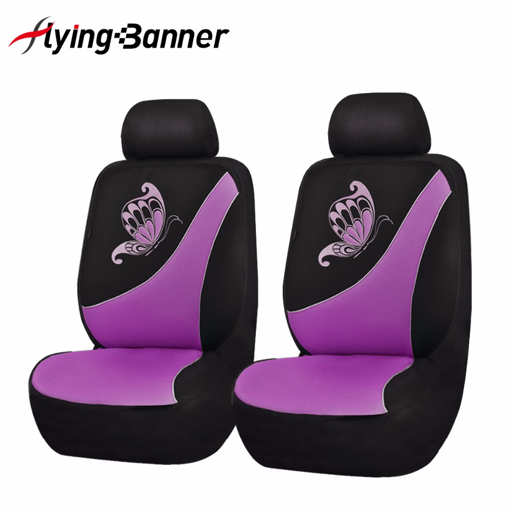 Blue and Black Polyester Fabric 030-Style Breathable Composite Sponge Inside Airbag Compatible Flying Banner 9 PCS Car Seat Covers Full Set Universal fit Most Car,Truck,SUV and Van
