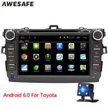 "8"" 2 din Android 6.0 car dvd player GPS Stereo Radio Quad Core 1024*600 Car pc BT for Toyota Corolla 2007 2008 2009 2010 2011"